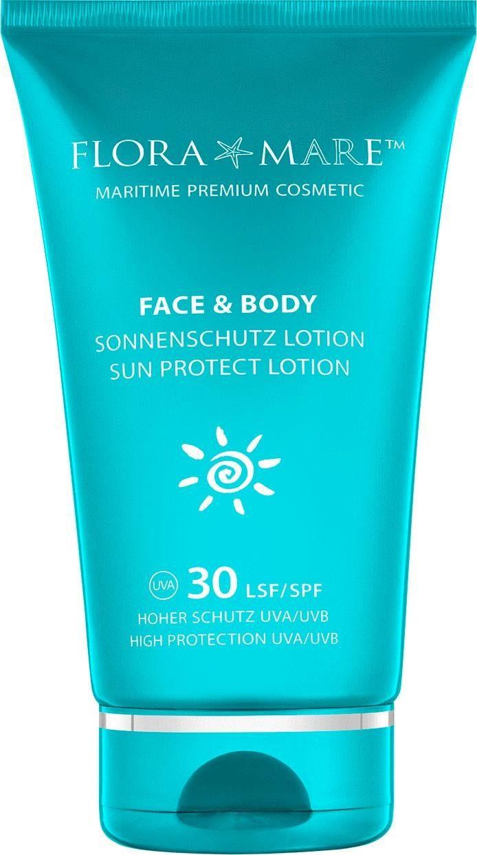 FLORA MARE, »Face and Body Sonnenschutz Lotion LSF 30«, Sonnenschutz und Anti-Aging-Pflege für Gesicht und Körper