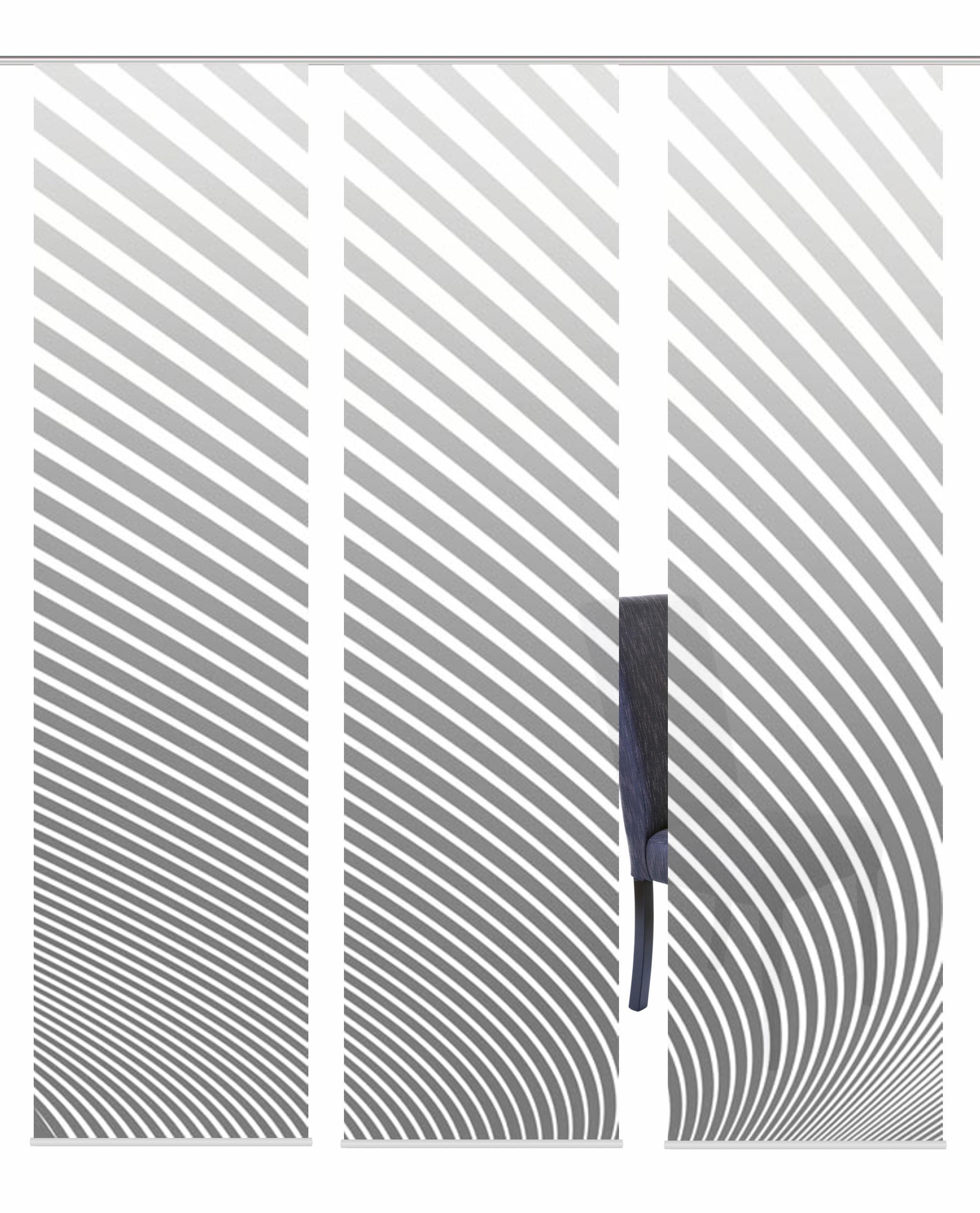 Schiebegardine »3ER SET STRIPE«, , Paneelwagen (3 Stück), Schiebevorhang 3er Set Digitaldruck