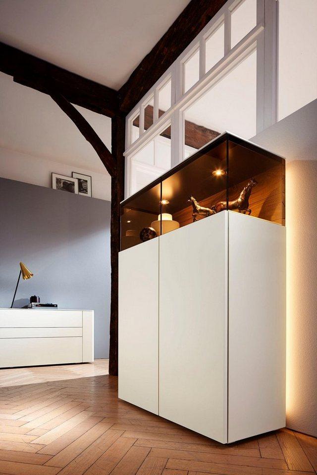 h lsta vitrine gentis h he 143 5 cm made in germany. Black Bedroom Furniture Sets. Home Design Ideas