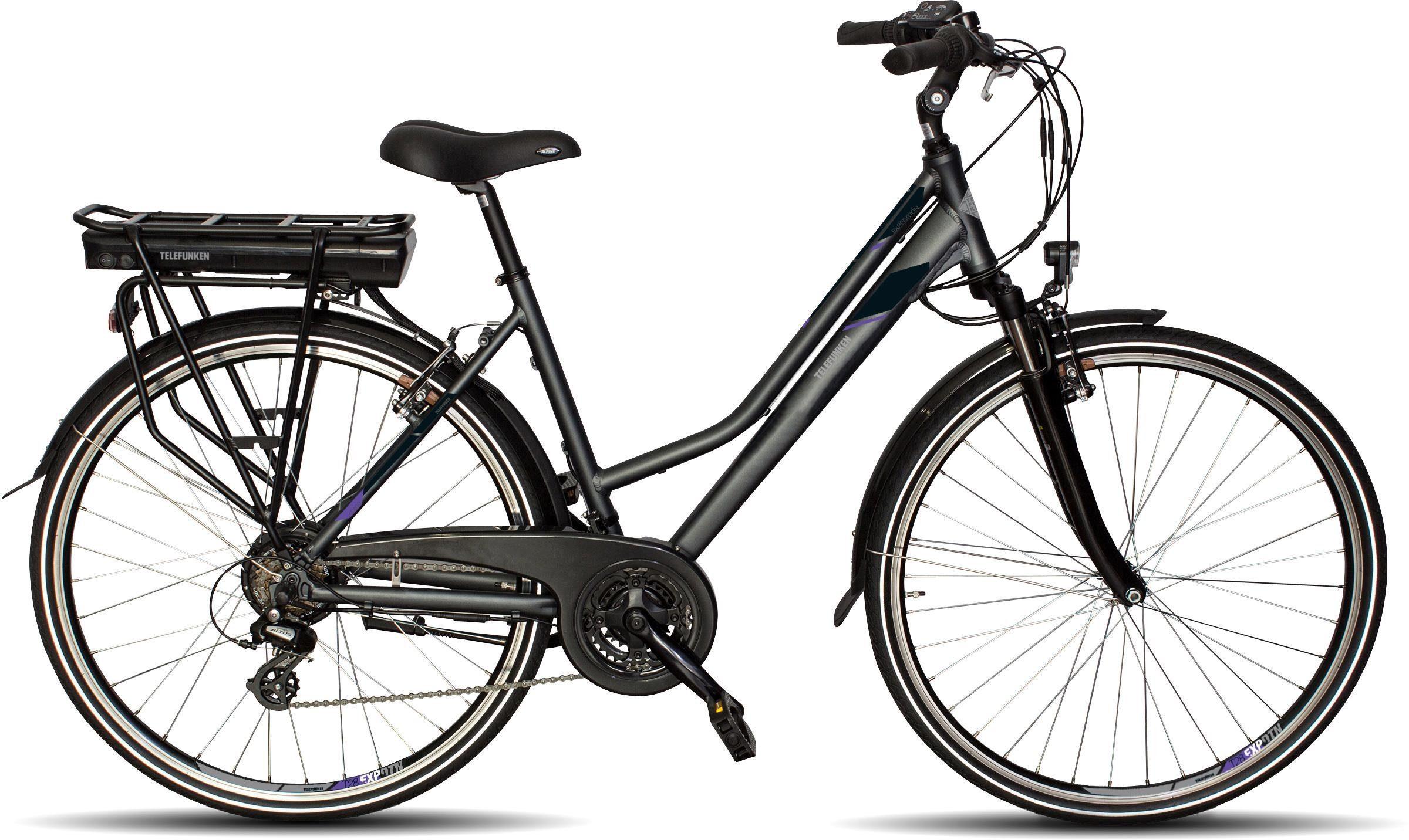 Telefunken E-Bike »XT469 Expedition«, 21 Gang Shimano Altus Schaltwerk, Kettenschaltung, Heckmotor 250 W