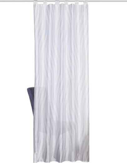 Vorhang »WAVE«, HOME WOHNIDEEN, Schlaufen (1 Stück), HxB: 245x120, Schlaufenschals Dekostoff Digitaldruck