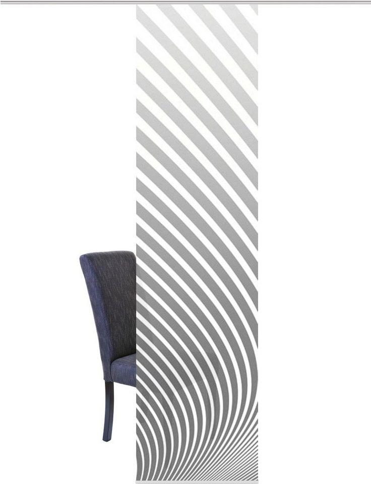 Schiebegardine Stripe R Home Wohnideen  Paneelwagen 1 Stueck Schiebevorhang Dekostoff Digitaldruck Grau?$formatz$