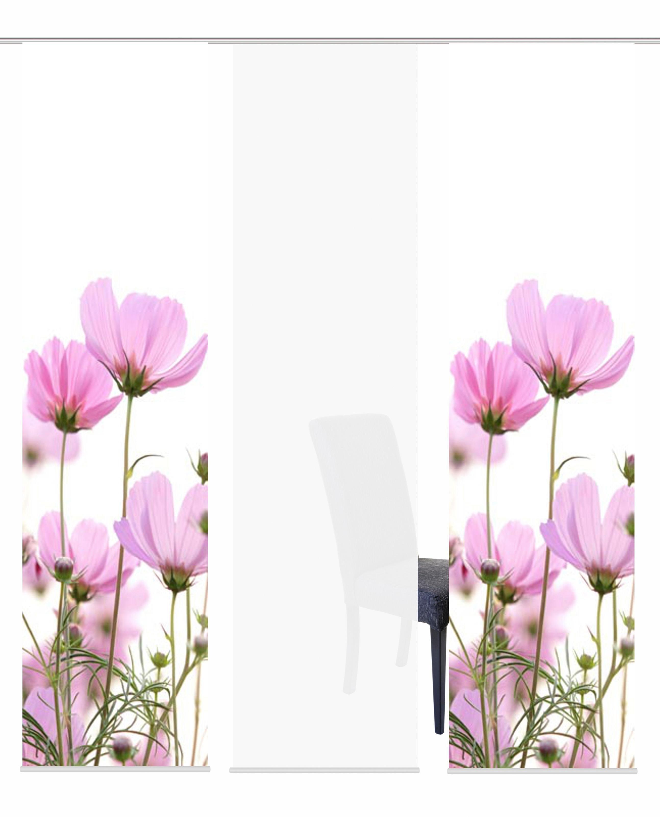 Schiebegardine »3ER SET MILLA«, , Paneelwagen (3 Stück), Schiebevorhang 3er Set Digitaldruck