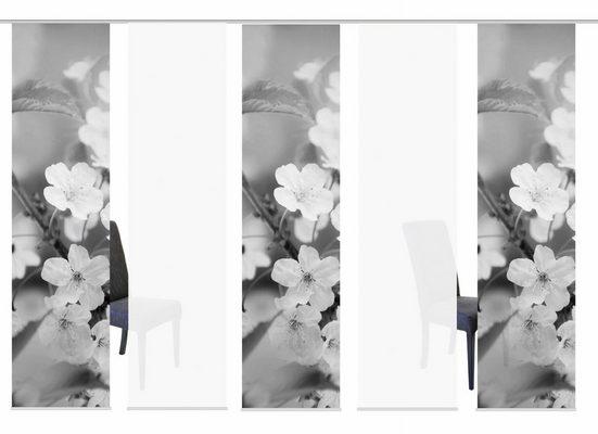Schiebegardine »5ER SET NILA«, HOME WOHNIDEEN, Paneelwagen (5 Stück), HxB: 245x60, Schiebevorhang 5er Set Digitaldruck