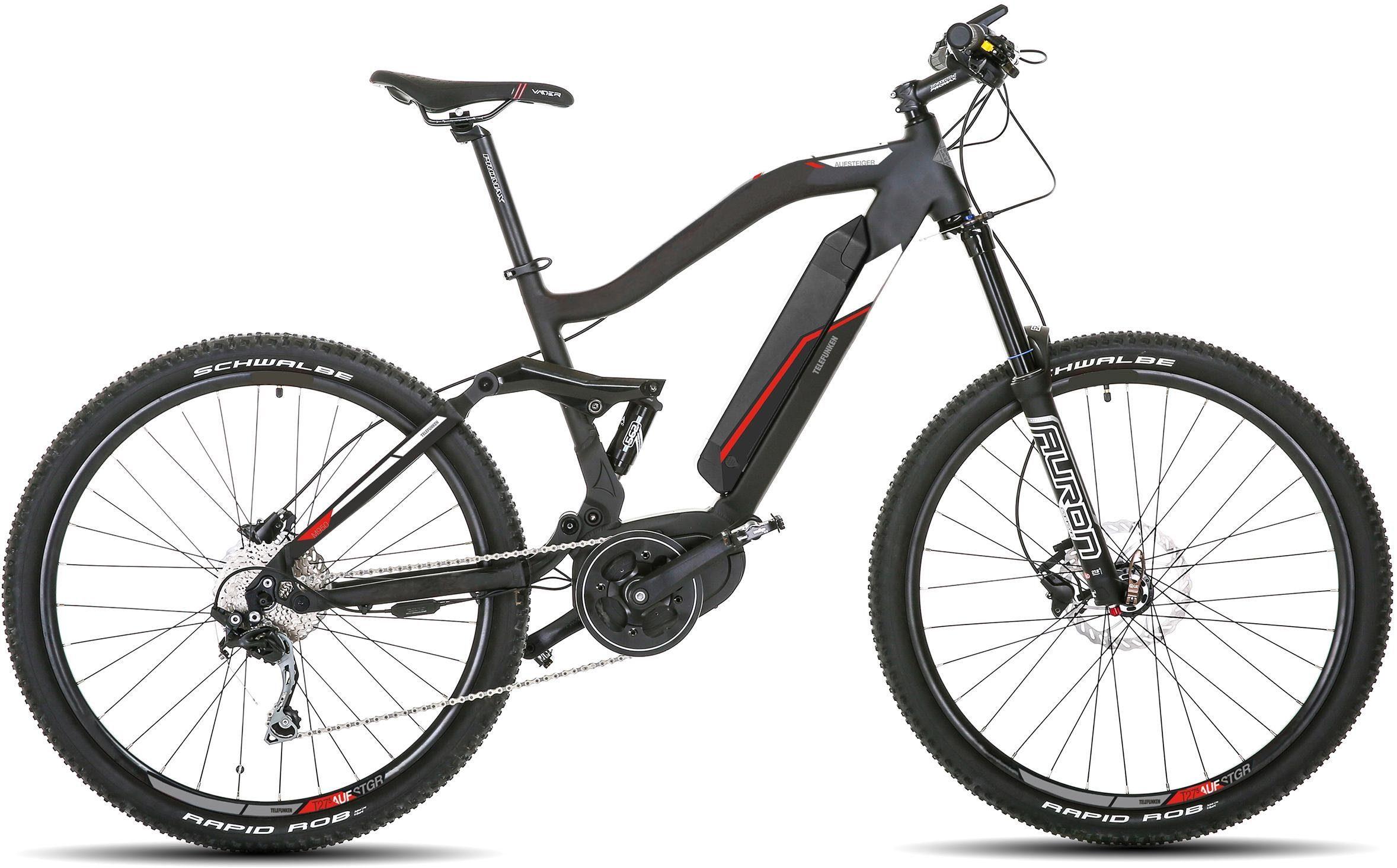 Telefunken E-Bike »M950 Aufsteiger«, 9 Gang Shimano Acera Schaltwerk, Kettenschaltung, Mittelmotor 250 W