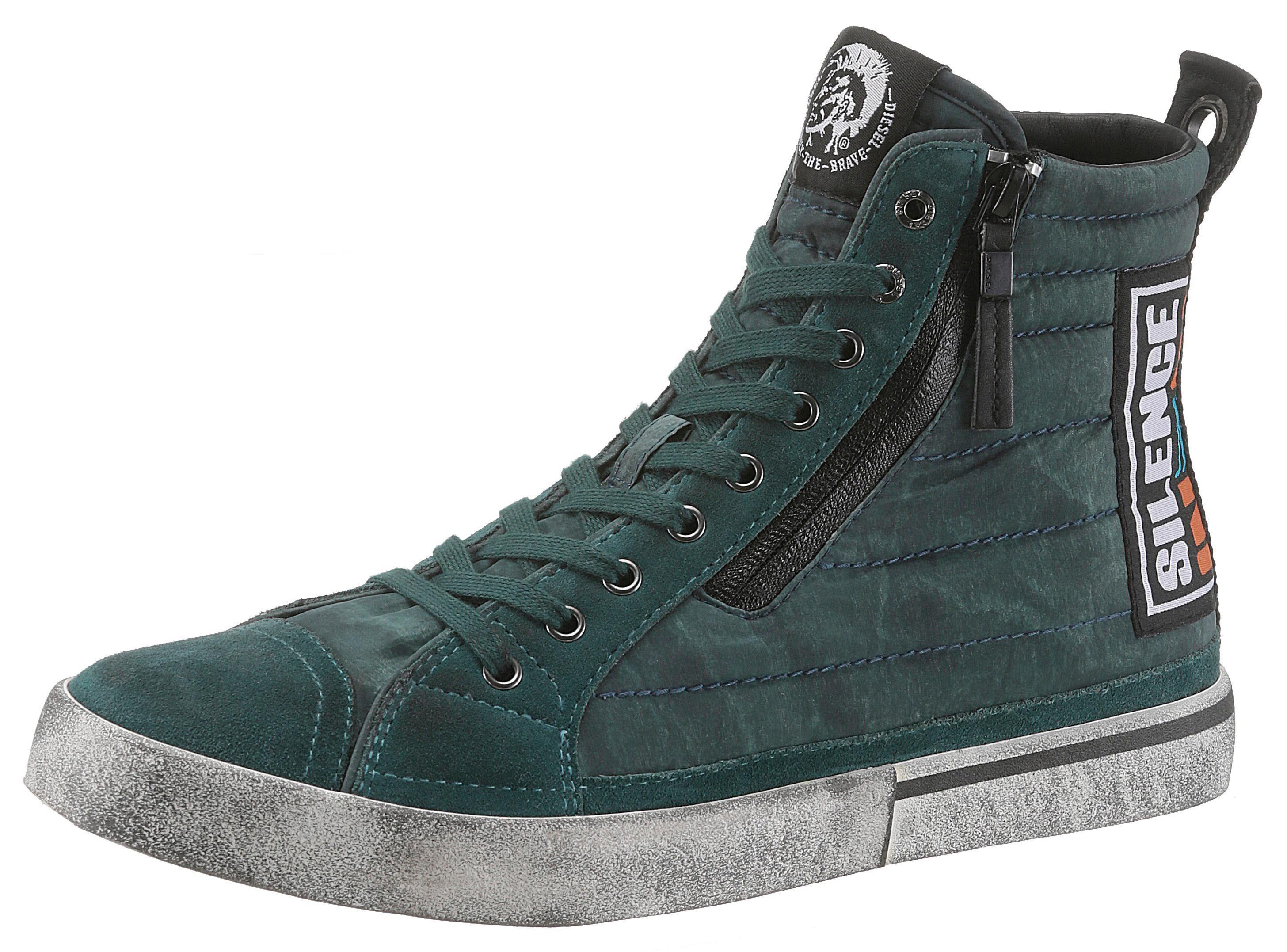 Diesel Sneaker mit Jeans Einsatz