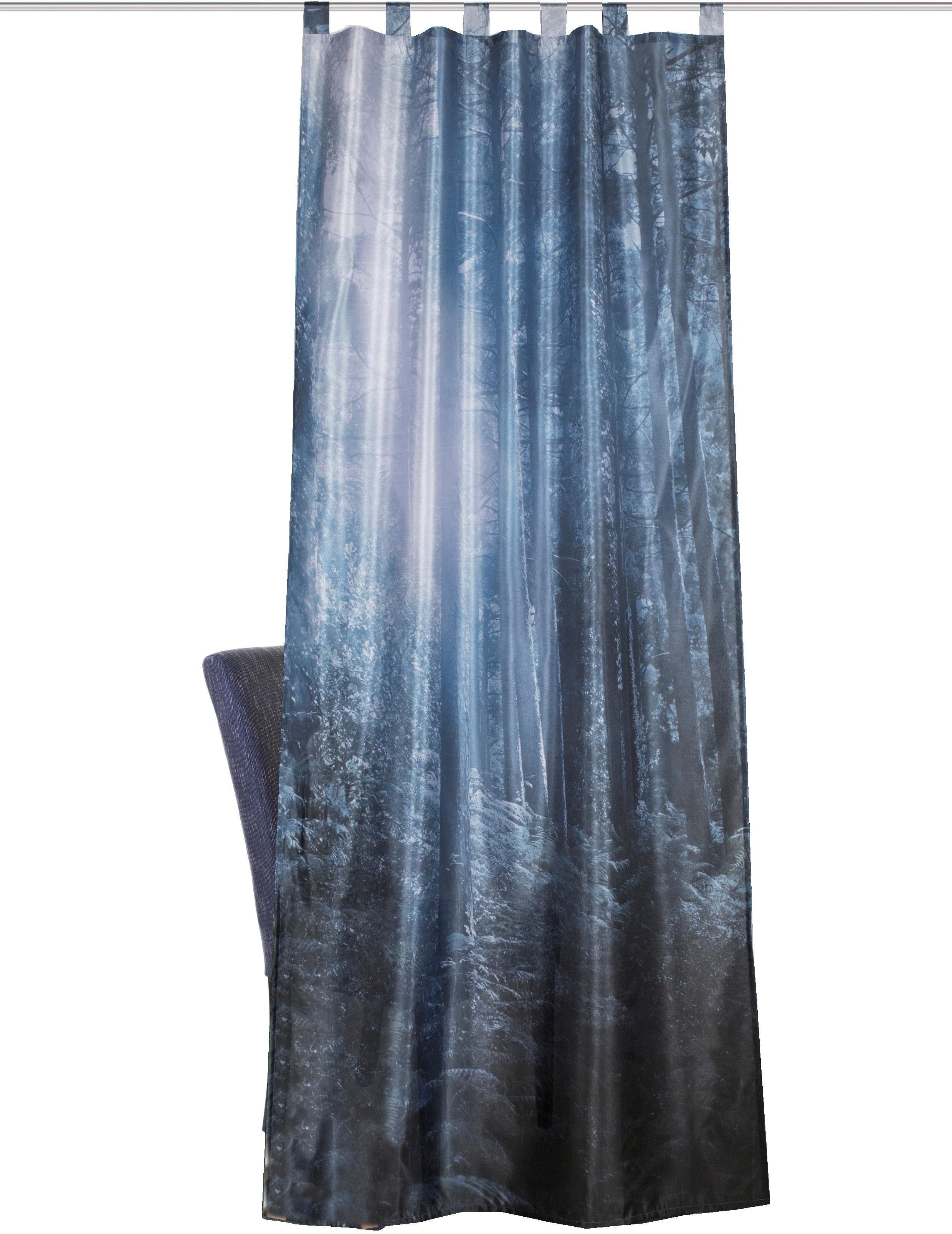 Vorhang »FORK«, HOME WOHNIDEEN, Schlaufen (1 Stück), Schlaufenschals Dekostoff Digitaldruck