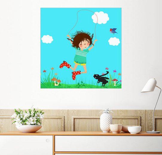 Posterlounge Wandbild - Elisandra Sevenstar »Emma springt Seil«