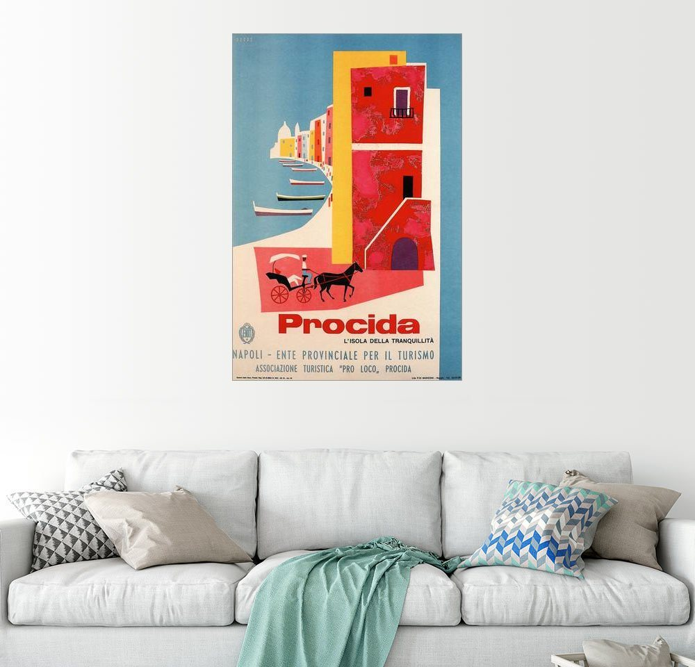 Posterlounge Wandbild »Italien - Procida« | Dekoration > Bilder und Rahmen > Bilder | Holz | Posterlounge