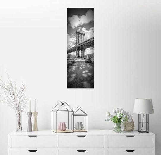 Posterlounge Wandbild - Melanie Viola »NEW YORK CITY Manhattan Bridge Panorama«
