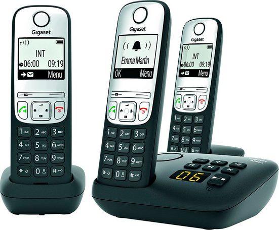 Gigaset »A690A Trio« Schnurloses DECT-Telefon (Mobilteile: 3)