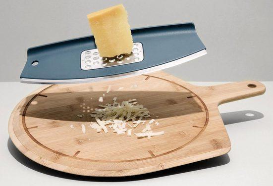BergHOFF Pizzaschneidebrett »Leo«, Keramik, Holz, Edelstahl, (Set, 3-St)