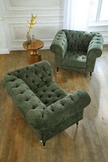 Guido Maria Kretschmer Home&Living Chesterfield-Sessel »Tinnum«
