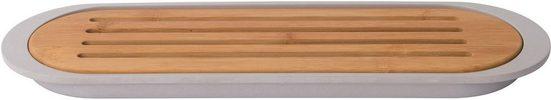 BergHOFF Brotschneidebrett »Leo«, Bambus, Kunststoff, mit Krümelschale