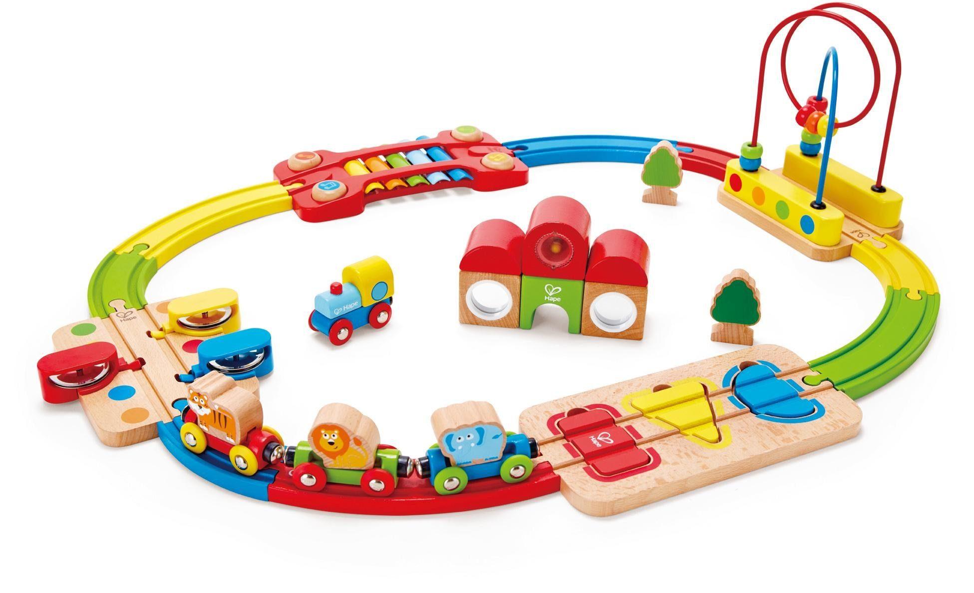 Hape Spielset aus Holz, »Regenbogen-Puzzle Eisenbahnset«