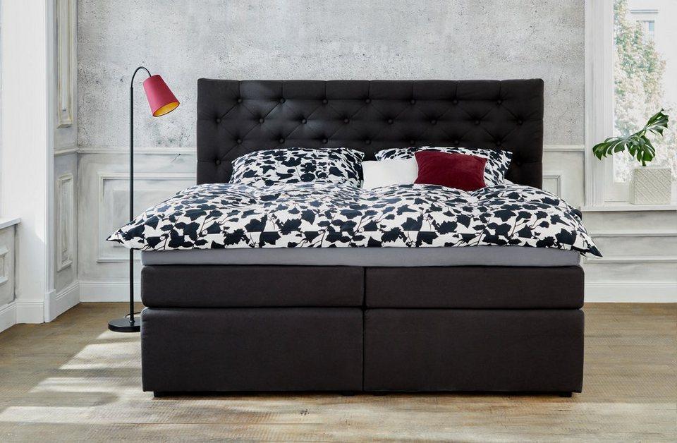 gmk home living boxspringbett aivi mit schubk sten online kaufen otto. Black Bedroom Furniture Sets. Home Design Ideas