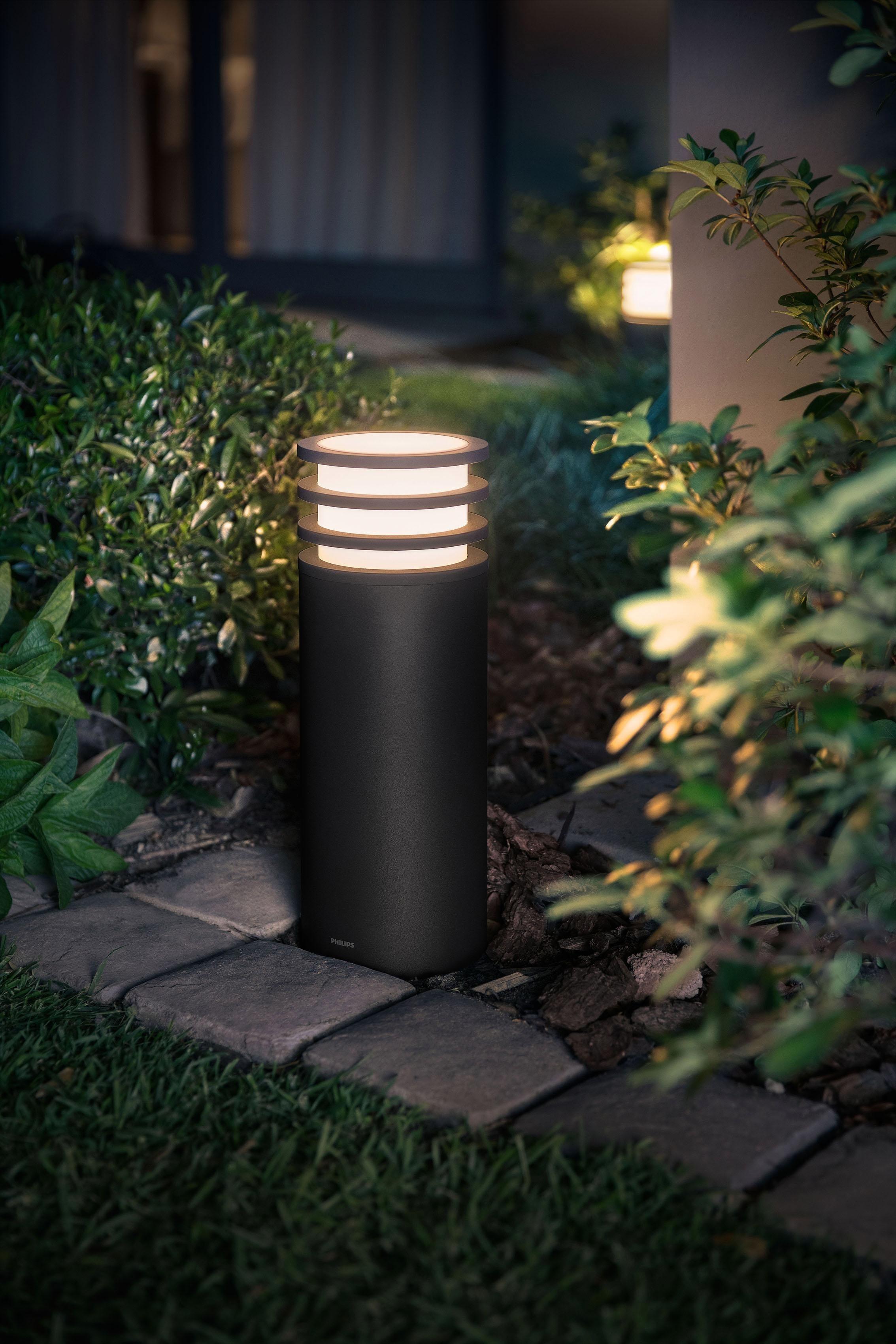 LED Sockelleuchte »Lucca«, 1-flammig, LED Außenleuchte - smartes LED-Lichtsystem mit App-Steuerung