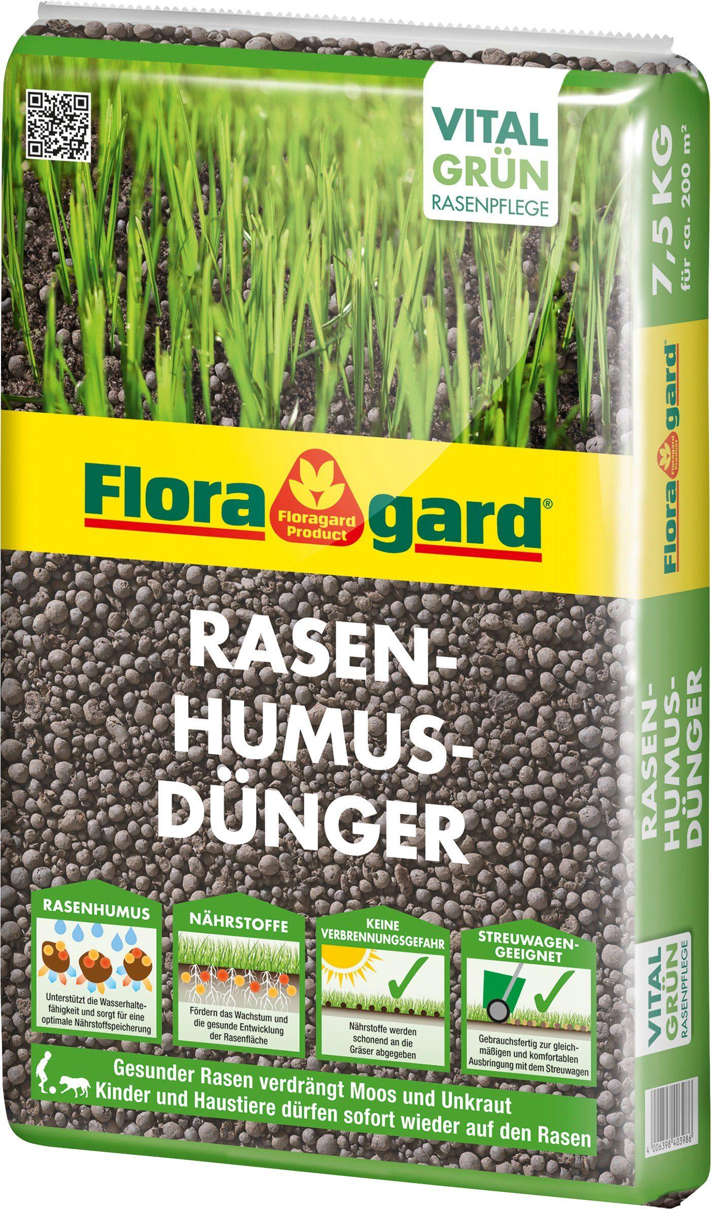 FLORAGARD Rasendünger , mit Humus, 7,5 kg