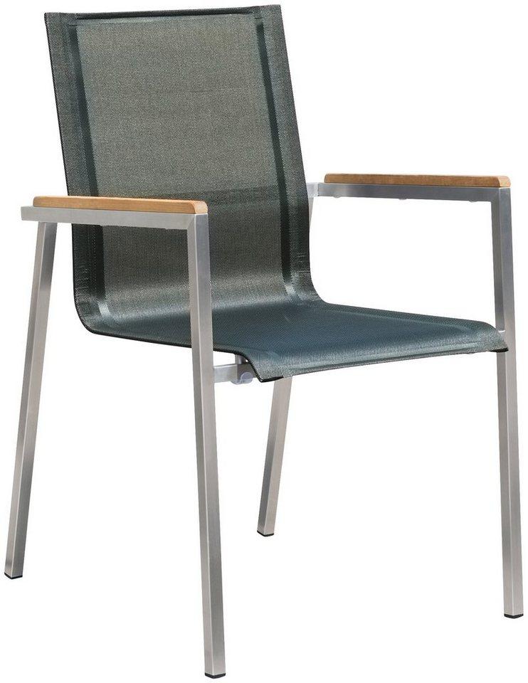 destiny gartensessel altos stahl textil stapelbar. Black Bedroom Furniture Sets. Home Design Ideas