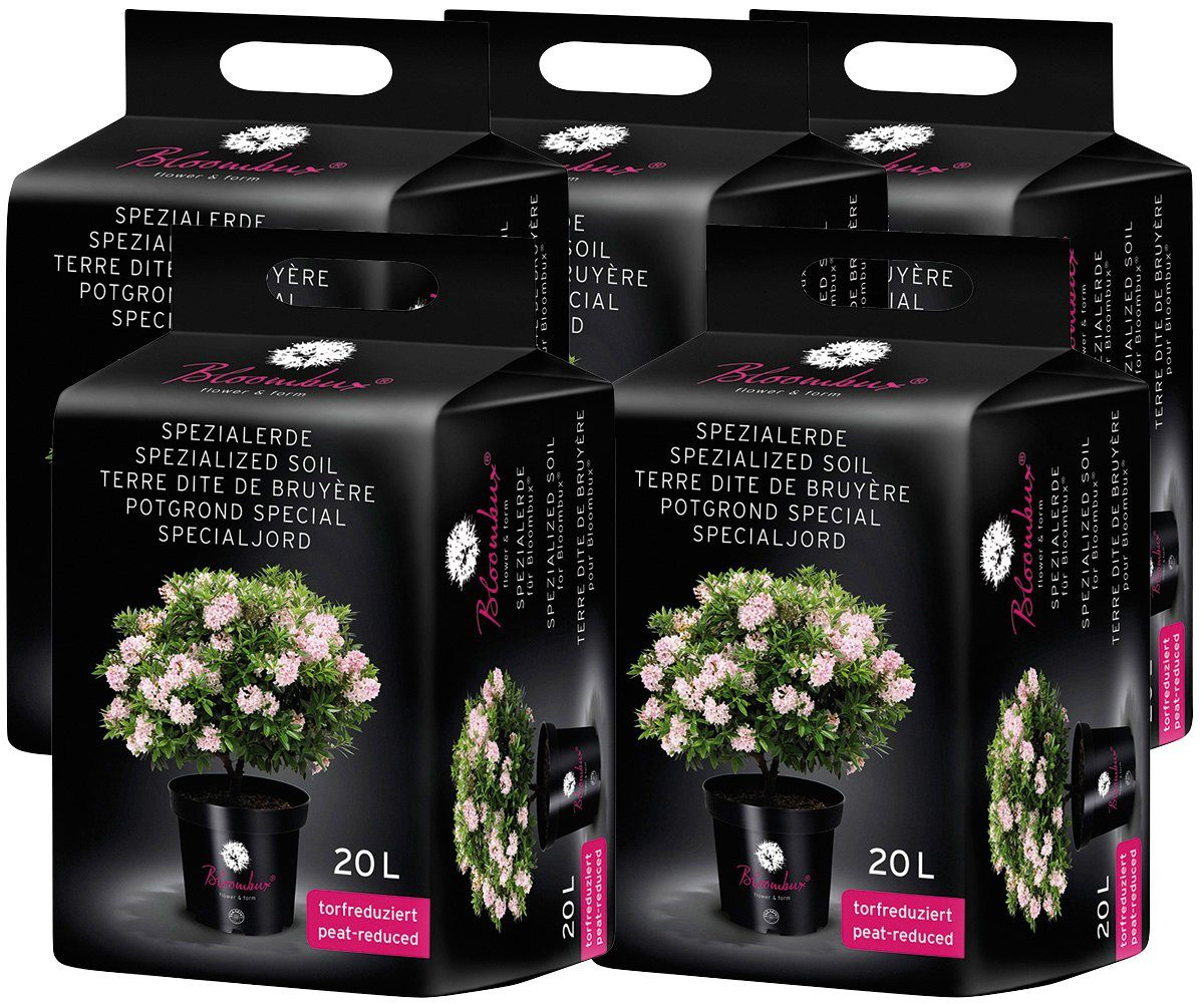 BLOOMBUX Spezialerde , für Moorbeetpflanzen, 5x20 Liter