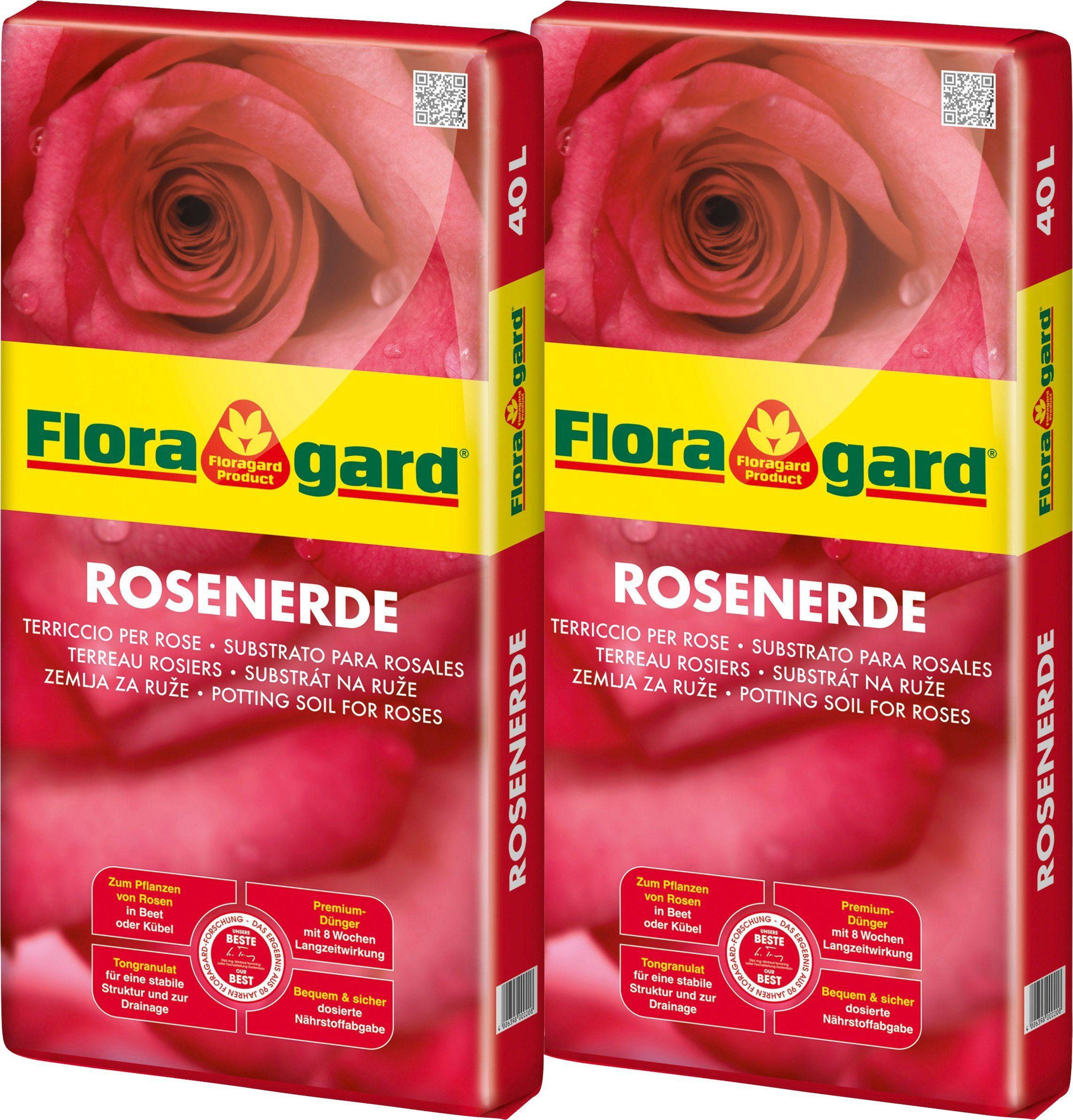 FLORAGARD Rosenerde , 2x40 Liter