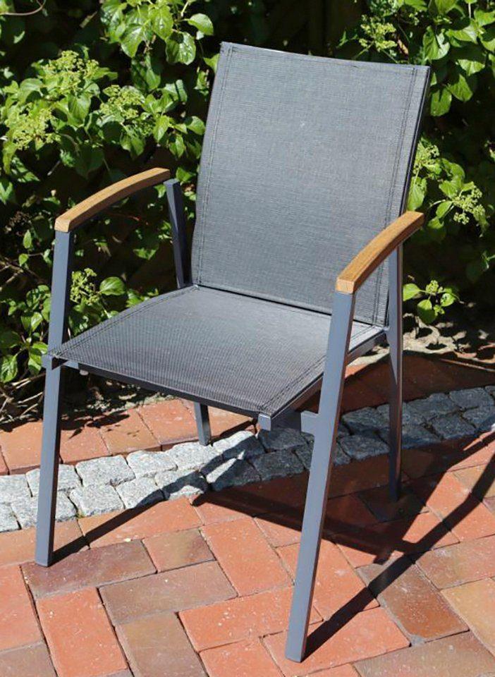 DESTINY Gartensessel »FLORES«, Alu/Textil, stapelbar