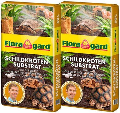 FLORAGARD Terrarien-Substrat , für Schildkröten und Terrarien, 2x50 Liter