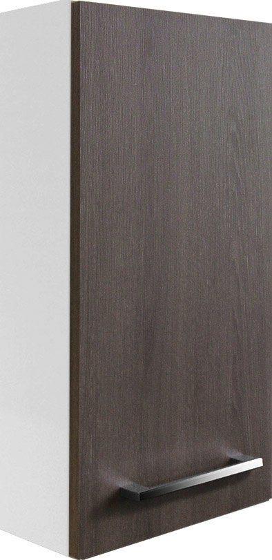 FACKELMANN Badhängeschrank »Rondo«, Breite 35 cm   Bad > Badmöbel > Hängeschränke fürs Bad   Weiß   Spanplatte   FACKELMANN