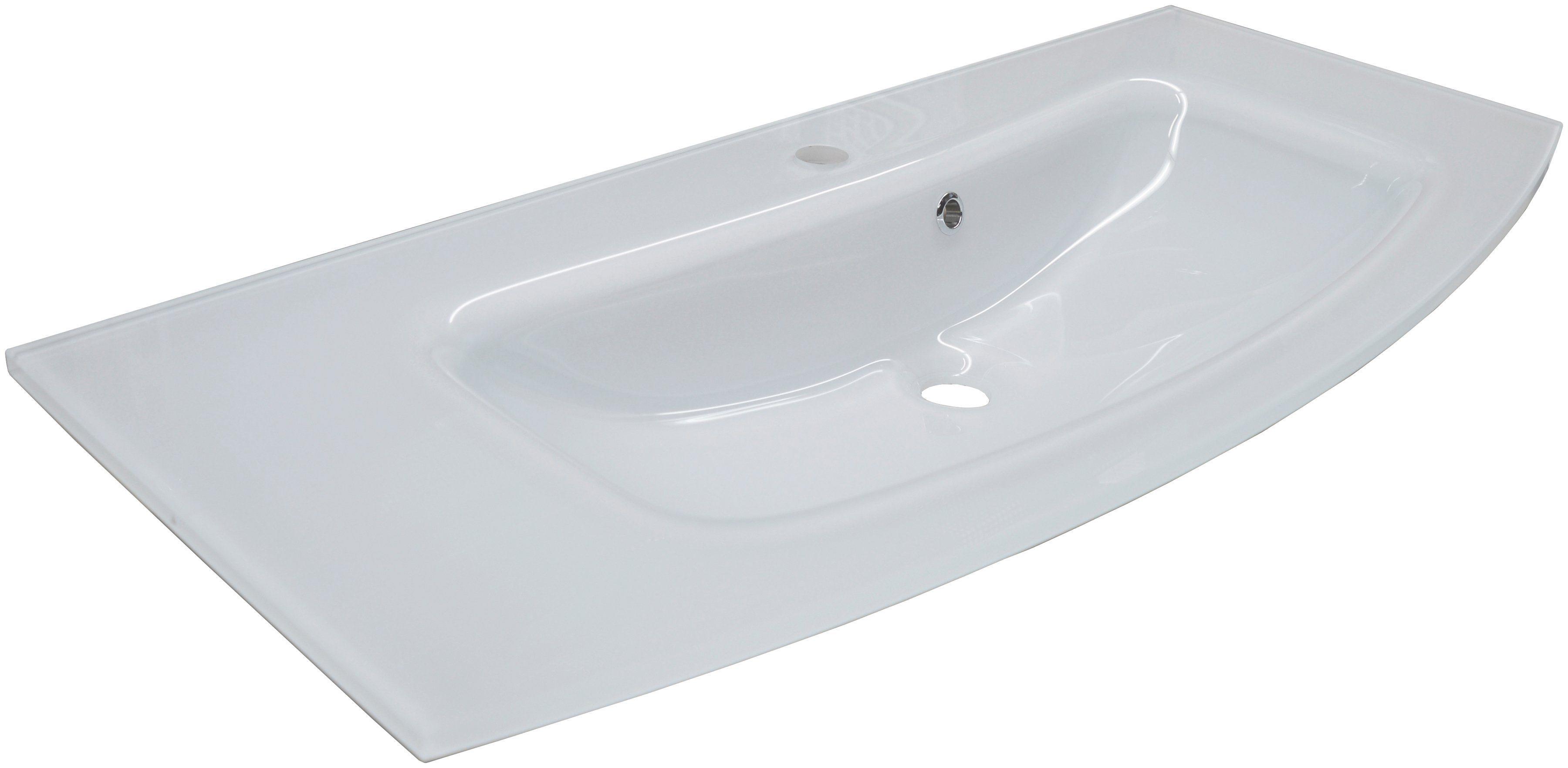 FACKELMANN Glas-Waschbecken »Rondo«, Breite 100 cm