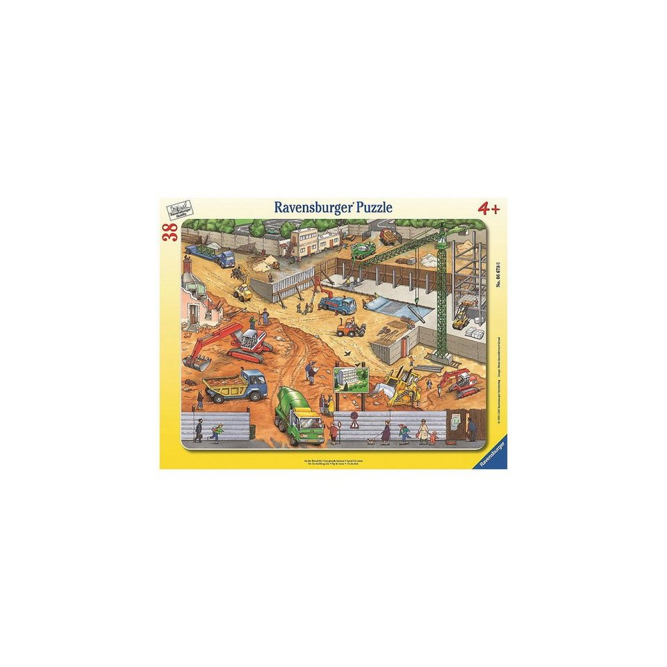 Ravensburger Rahmenpuzzle 38 kaufen Teile An der Baustelle online kaufen 38 4d99a4