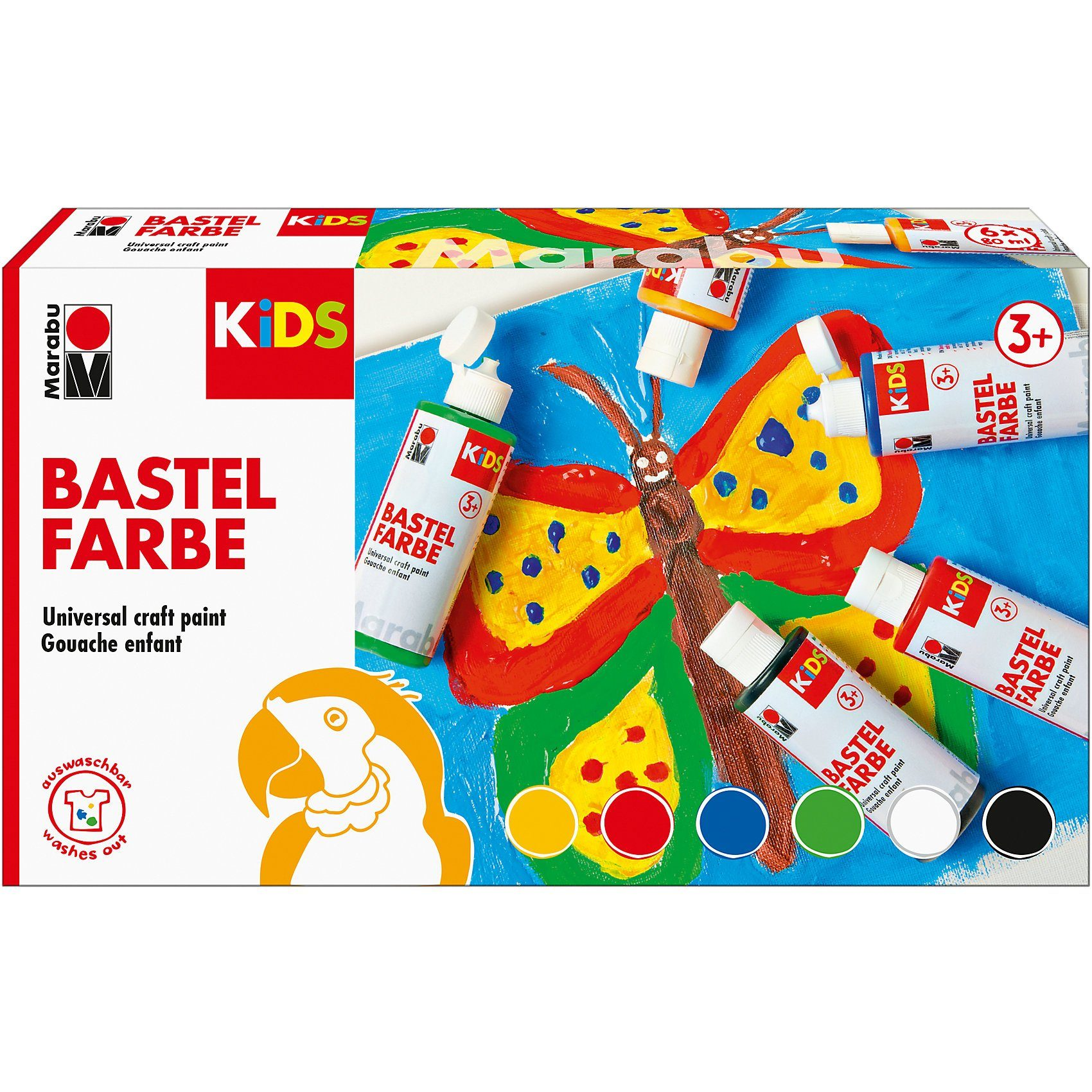 Marabu KIDS Bastelfarbe, 6 x 80 ml