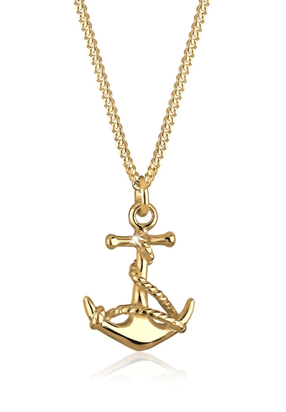 GOLDHIMMEL Collierkettchen »Anker Maritim Meer 925 Sterling Silber«