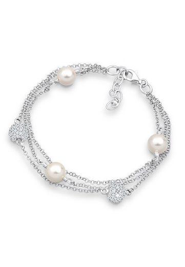 Elli Armband »Süßwasserzuchtperlen Swarovski Kristalle Silber«