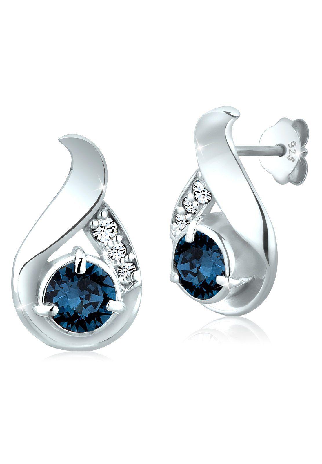 Elli Paar Ohrstecker »Tropfen Swarovski® Kristalle Stecker 925 Silber« online kaufen   OTTO