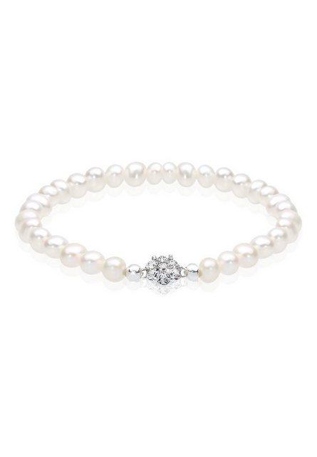 Elli Perlenarmband »Süßwasserperlen Swarovski Kristalle 925 Silber« | Schmuck > Armbänder > Perlenarmbänder | Elli