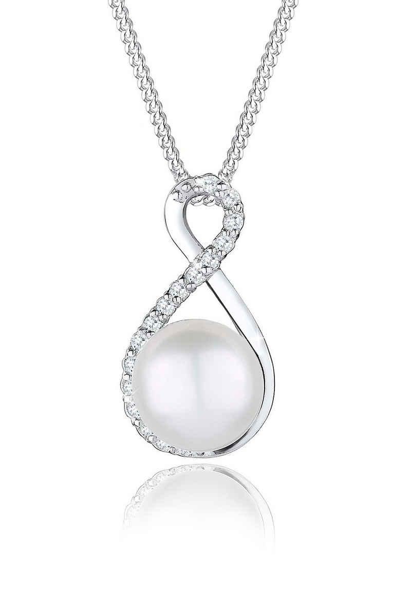 Elli Perlenkette »Infinity Süßwasserzuchtperle 925 Silber«