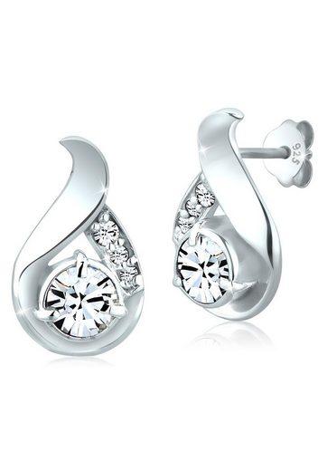 Elli Paar Ohrstecker »Tropfen Swarovski® Kristalle Stecker 925 Silber«