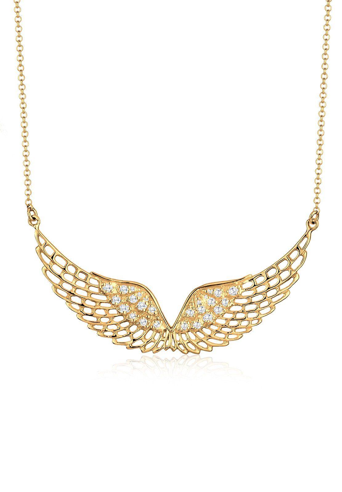 Elli Halskette »Flügel Zirkonia 925 Sterling Silber«