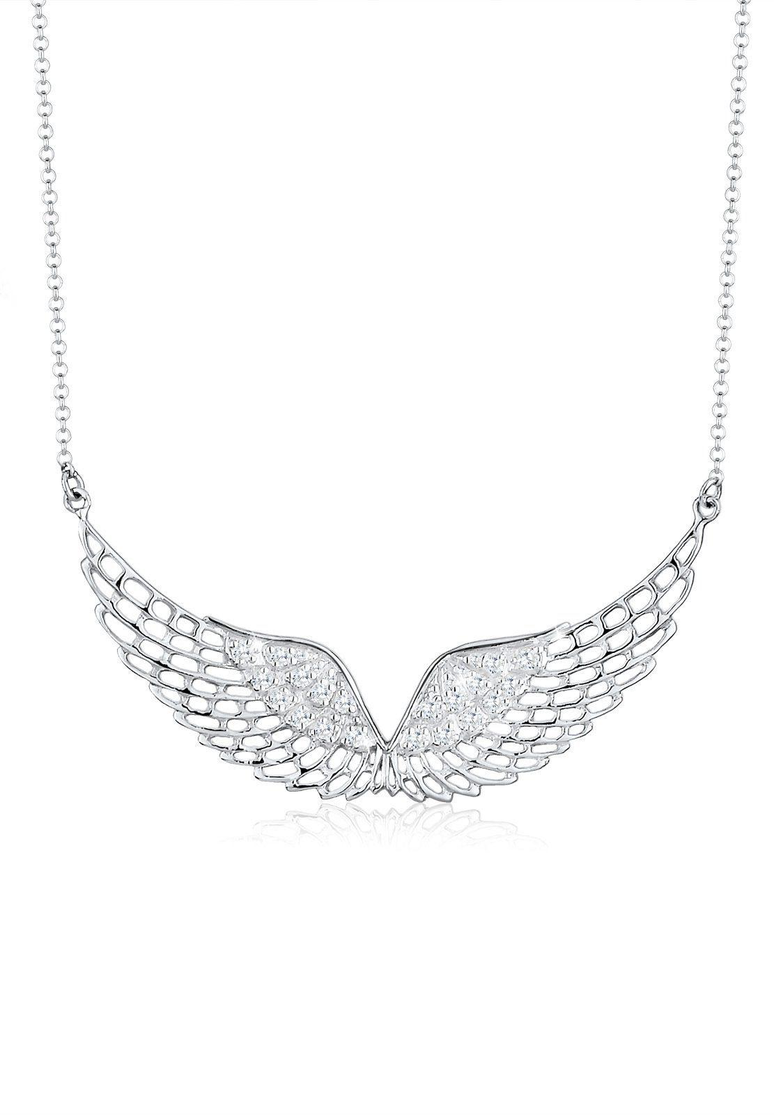 Elli Halskette »Flügel Himmel Zirkonia 925 Sterling Silber«
