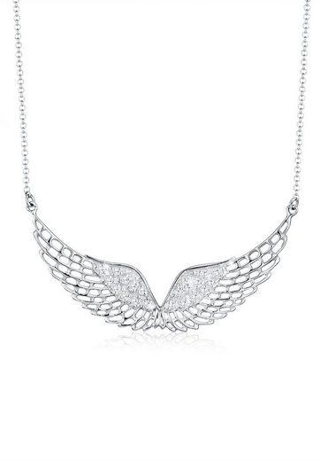 Elli Collierkettchen »Flügel Himmel Zirkonia 925 Sterling Silber«