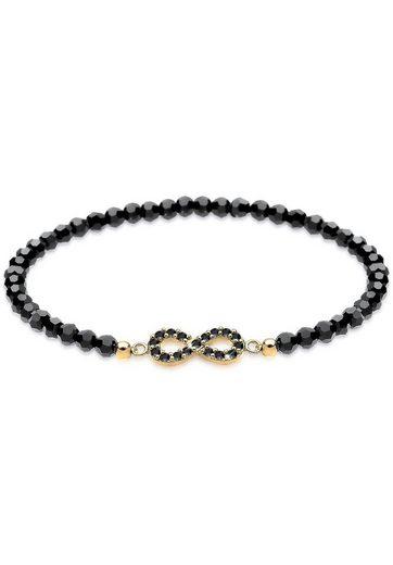 Elli Armband »Infinity Swarovski® Kristalle 925 Silber Noir«