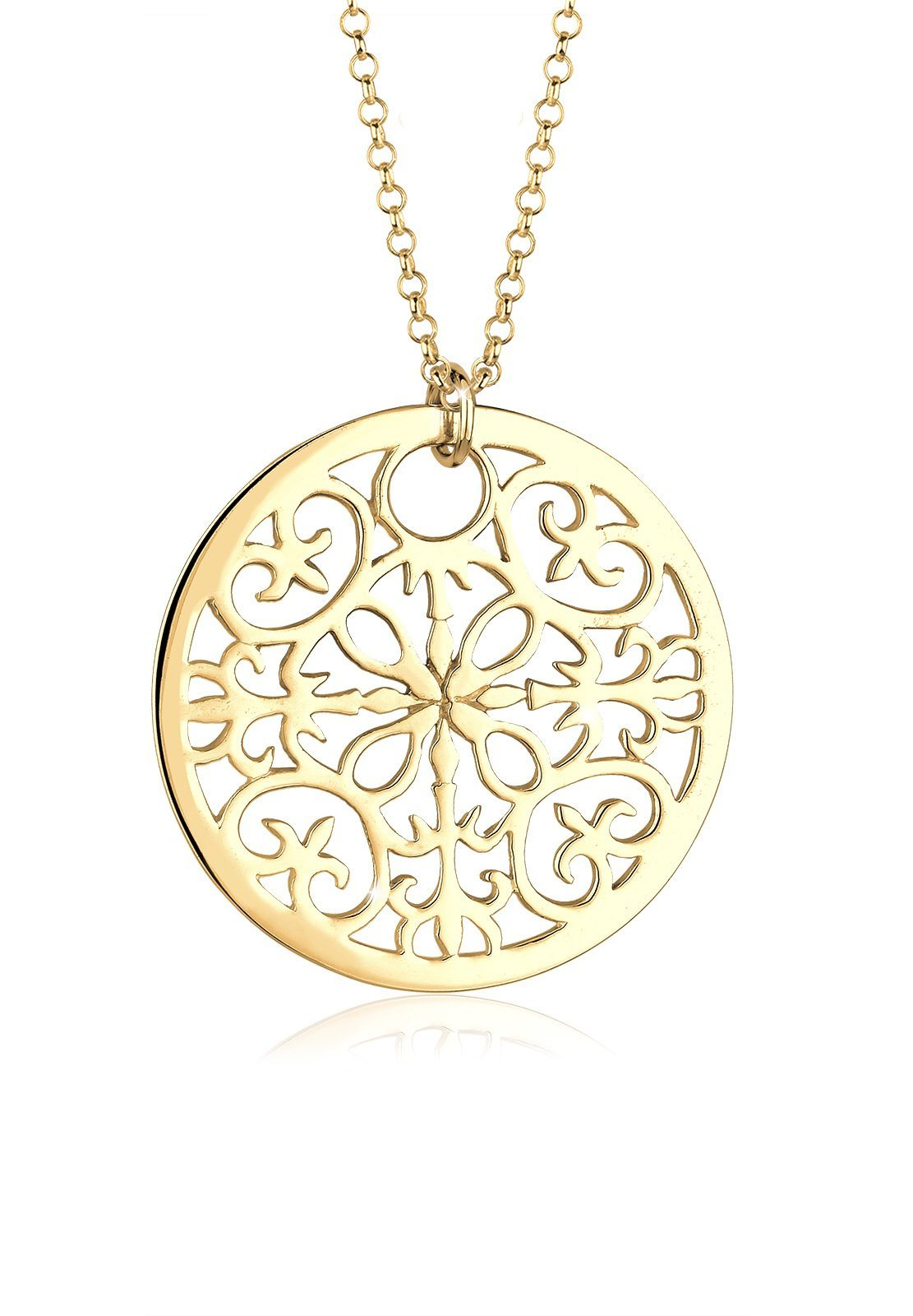 GOLDHIMMEL Lange Kette »925 Sterling Silber vergoldet Münze Ornament« | Schmuck > Halsketten > Goldketten | Silber | GOLDHIMMEL