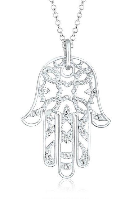 Elli Statementkette »Hamsa Hand Swarovski® Kristalle 925 Silber« | Schmuck > Halsketten > Statementketten | Elli