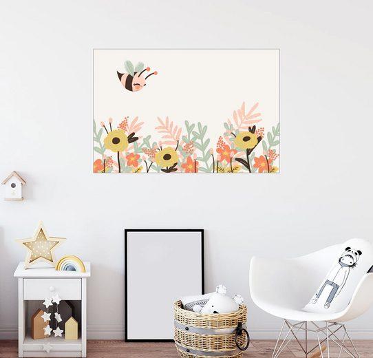 Posterlounge Wandbild - Kanzi Lue »Tierfreunde - Die Biene«