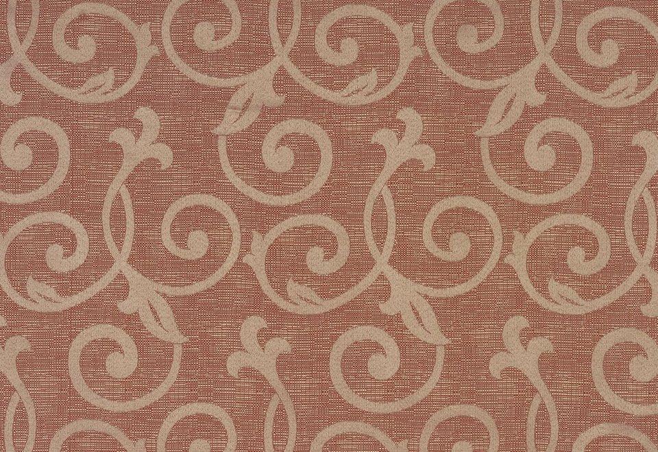 Vorhang, Wirth, »Schmalfeld«, mit Kräuselband (1 Stück) in Rost 46
