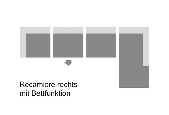 Sofas - DOMO collection Ecksofa, wahlweise mit Bettfunktion  - Onlineshop OTTO