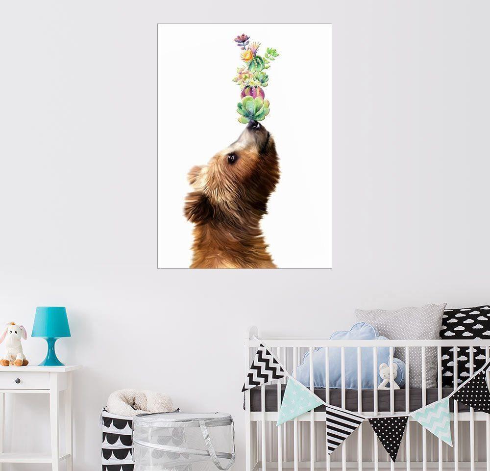 Posterlounge Wandbild - Mandy Reinmuth »Der Sukkulenten Bär«