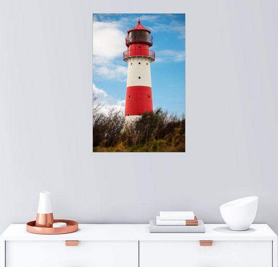 Posterlounge Wandbild »Roter Leutturm«