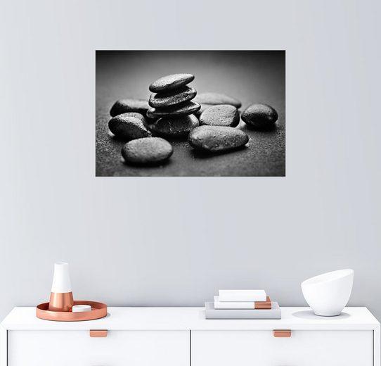 Posterlounge Wandbild »Hot Stone Massage«