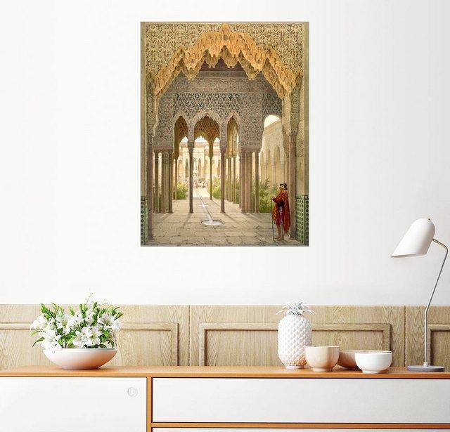 Posterlounge Wandbild - Léon Auguste Asselineau »Das Gericht der Löwen, die Alhambra in Granad...« | Dekoration > Bilder und Rahmen > Bilder | Posterlounge